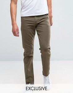 Узкие джинсы стретч цвета хаки Noak - Зеленый