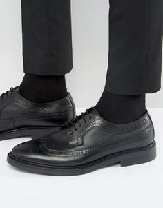 Кожаные туфли дерби с декоративной перфорацией Zign - Черный