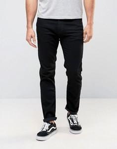 Черные зауженные джинсы стретч Abercrombie & Fitch - Черный