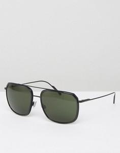 Солнцезащитные очки-авиаторы в квадратной оправе Dolce & Gabbana - Черный