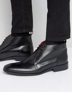 Кожаные ботинки чукка Base London Devon - Черный