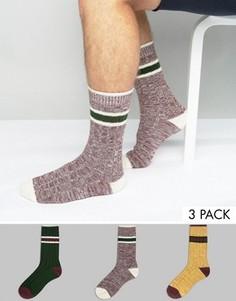 3 пары теплых носков в рубчик ASOS - Мульти