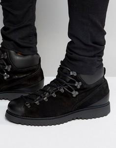Замшевые ботинки на шнуровке Religion - Черный