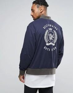 Университетская куртка с принтом на спине Billionaire Boys Club - Темно-синий