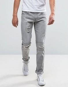 Рваные джинсы слим Bellfield - Синий