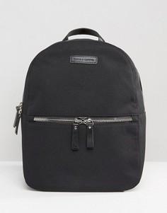 Нейлоновый рюкзак с кожаной отделкой Smith And Canova - Черный