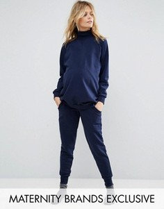 Джоггеры в стиле casual для беременных Bluebelle Maternity - Темно-синий