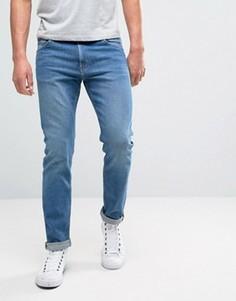 Синие зауженные джинсы Weekday Friday - Синий
