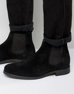 Замшевые ботинки челси Selected Homme Oliver - Черный