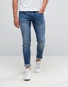 Выбеленные джинсы скинни BOSS Orange by Hugo Boss 72 - Синий