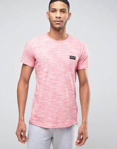 Меланжевая футболка Nicce - Красный