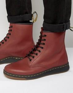 Ботинки с 8 парами люверсов Dr Martens Lite Newton - Красный