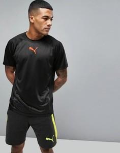 Черная футболка для бега Puma 51458001 - Черный