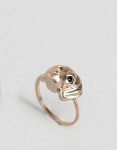 Кольцо с таксой ограниченной серии - Золотой Asos