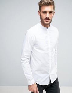 Белая рубашка стандартного кроя с воротником на пуговицах New Look - Белый