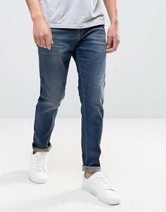 Синие джинсы антифит Selected - Синий