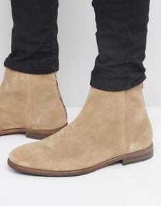 Замшевые ботинки на молнии Paul Smith Jean - Бежевый