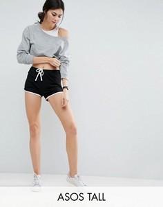 Классические шорты для бега с контрастным кантом ASOS TALL - Черный