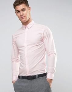 Строгая рубашка скинни Selected Homme - Розовый