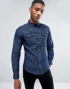 Узкая джинсовая рубашка Diesel NEW-SONORA-E - Синий