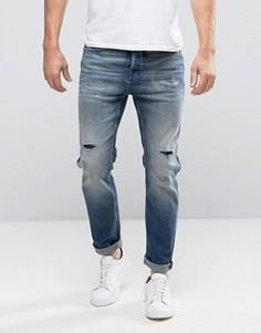 Свободные светло-синие джинсы Selected - Синий