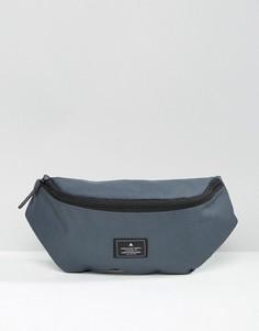 Серая сумка-кошелек на пояс с нашивкой ASOS - Серый