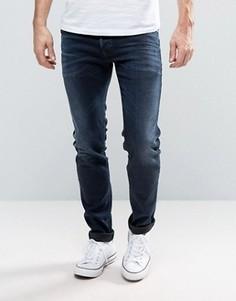 Рваные джинсы скинни Diesel Sleenker 679Q - Темно-синий