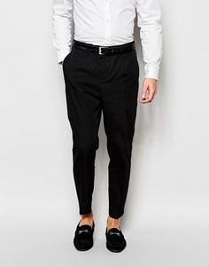 Укороченные брюки Selected Homme - Черный