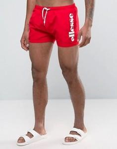 Красные шорты для плавания с логотипом Ellesse - Красный