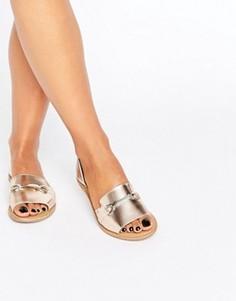 Кожаные летние туфли ASOS JASMINA - Золотой