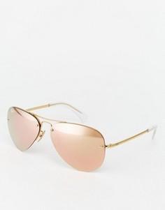 Солнцезащитные очки-авиаторы со светоотражающим покрытием Ray-Ban - Розовый