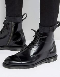 Ботинки на молнии и шнуровке с 7 парами люверсов Dr Martens Winchester - Черный