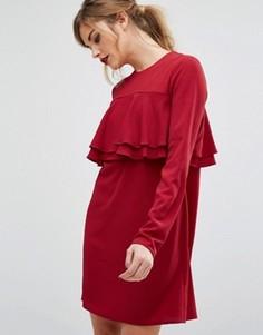 Платье с оборками Fashion Union - Красный