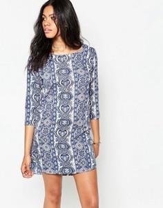 Платье с геометрическим принтом Madam Rage - Синий