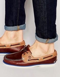 Классические кожаные мокасины Timberland - Коричневый