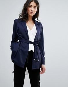 Куртка с ремнем Unique 21 - Темно-синий