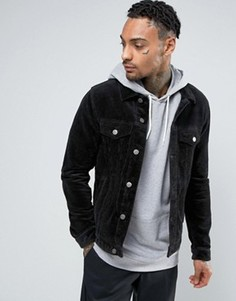 Черная вельветовая куртка ASOS - Черный
