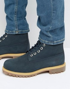 Синие премиум-ботинки Timberland 6 дюймов - Синий