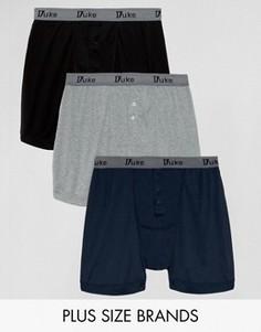 Три пары шортов-боксеров (черные/темно-синие/серые) Duke PLUS - Мульти