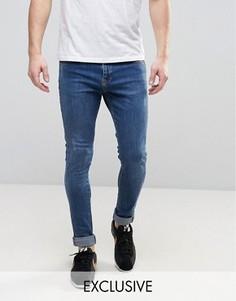 Супероблегающие потертые джинсы Brooklyn Supply Co Dyker - Синий