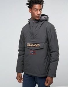 Нейлоновая куртка на подкладке с капюшоном Napapijri - Серый