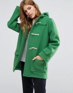 Пальто-дафлкот с капюшоном и пуговицам моржовый клык YMC - Зеленый