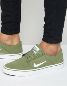 Зеленые парусиновые кроссовки Nike SB Portmore 723874-311 - Зеленый