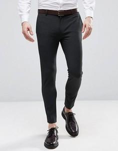 Укороченные строгие брюки скинни ASOS - Серый