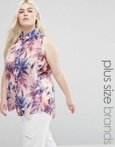 Рубашка с перьевым принтом Koko Plus - Мульти