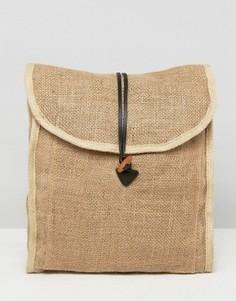 Тканый рюкзак ASOS BEACH Natural - Рыжий