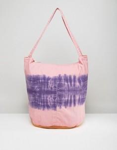 Парусиновая сумка-шоппер с принтом тай-дай ASOS BEACH - Мульти