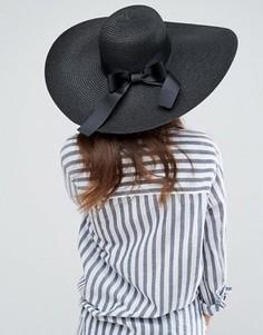 597bcb8890df Соломенная шляпа с широкими полями ASOS - Черный