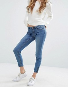 Укороченные джинсы с молниями Noisy May - Синий