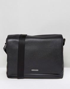 Кожаная сумка почтальона HUGO by Hugo Boss Element - Черный